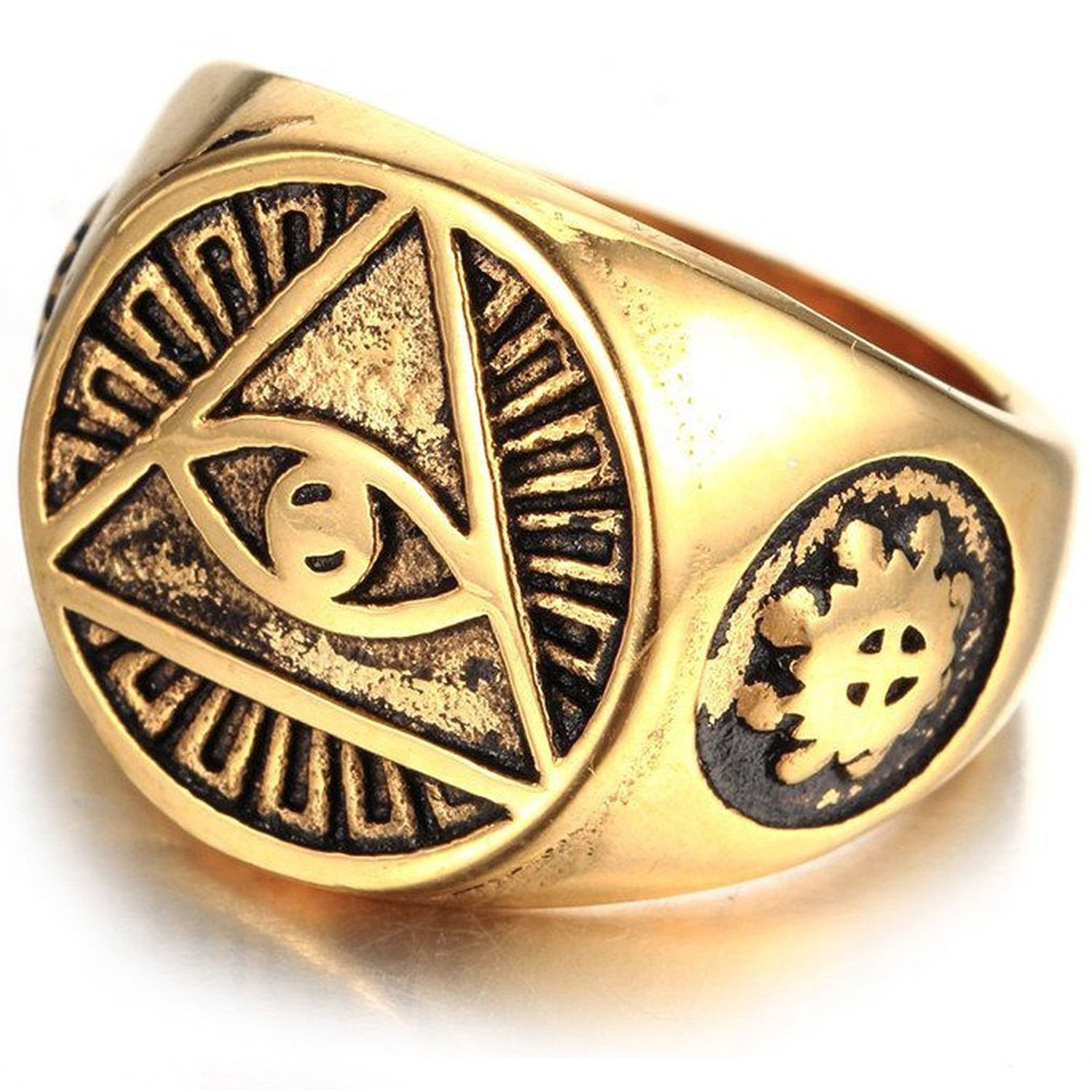 illuminati signet ring men gold color 10 men s ring 20391988867 - About affiliate disclosure